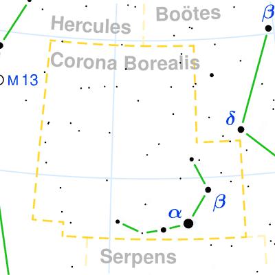 Constellation Corona Borealis The Constellations On Sea And Sky