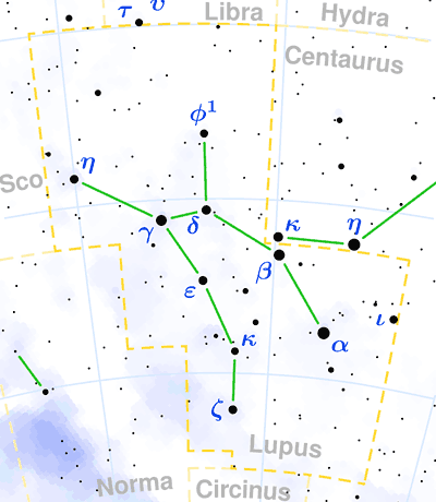 Constellation Lupus The Constellations On Sea And Sky - The wolf among us road map