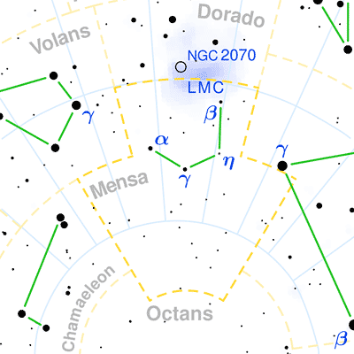 constellation mensa the constellations on sea and sky