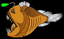 Deep Sea Anglerfish - Deep Sea Creatures on Sea and Sky