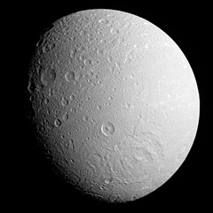 Dione Moon Of Saturn The Solar System On Sea And Sky
