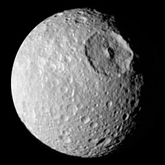 Mimas Moon Of Saturn The Solar System On Sea And Sky