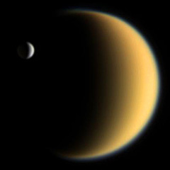 Titan, moon of Saturn - The Solar System on Sea and Sky