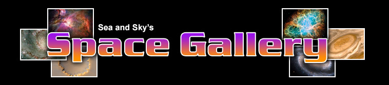 Title graphic for Sea and Sky's Space Gallery pages